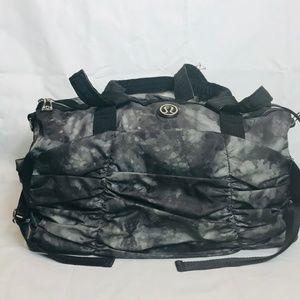 Lululemon Watercolor Print Ruffle Front Duffle Bag